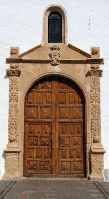 Betancuria, Kirche Santa María (um 1620), barockes Eingangsportal