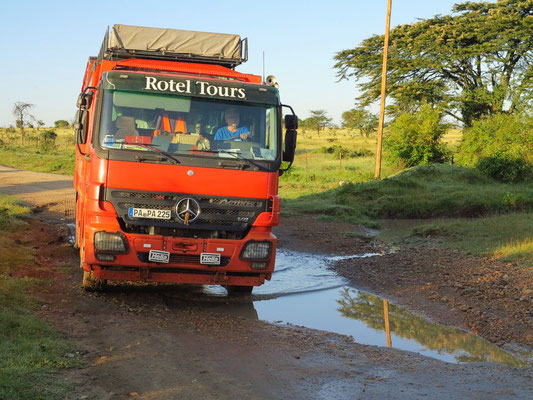 Auf dem Weg zurück vom Masai Mara Wildreservat