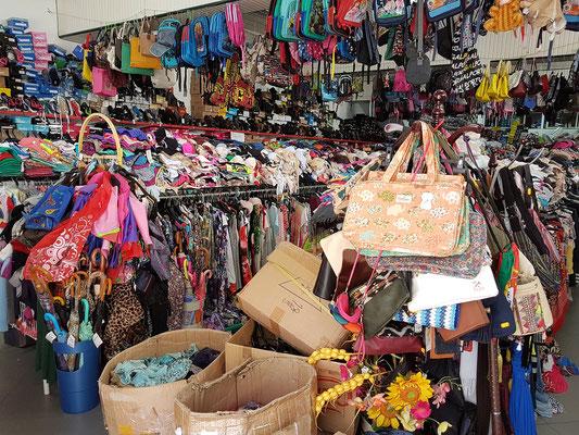 Überbordendes Textilgeschäft