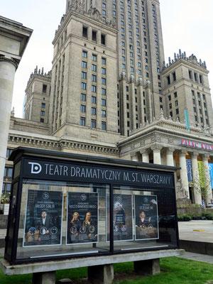 Kulturpalast, Programmankündigungen im Teatr Dramatyczny
