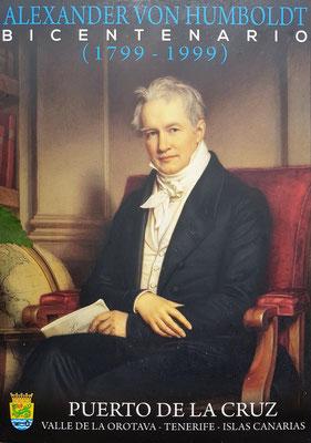 Erinnerung an den berühmten Naturwissenschaftler Alexander von Humboldt , der den Garten im Juni 1799 besuchte