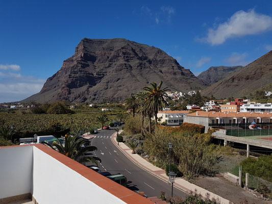 Valle Gran Rey, Blick von der Terrasse der Casa Antonio nach N