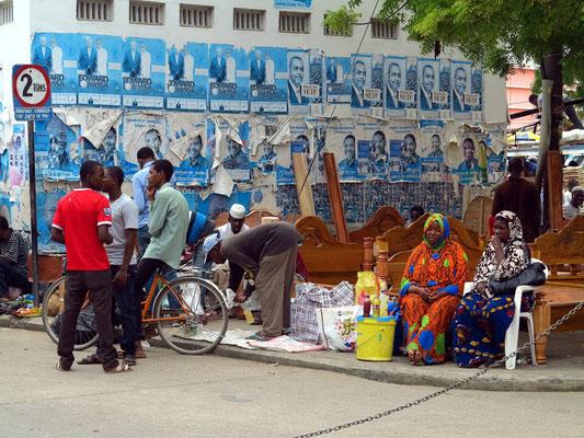 Auf dem Darajani-Markt gibt es alles zu kaufen, was der Mensch zum Leben braucht.