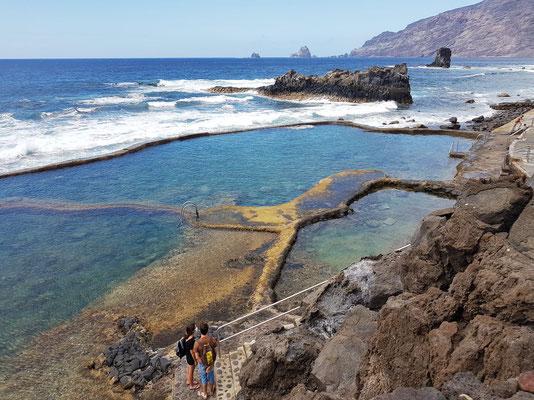 Playa la Maceta bei Niedrigwasser