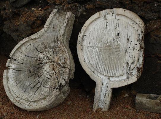 Finca El Guinea mit alten landwirtschaftlichen Geräten