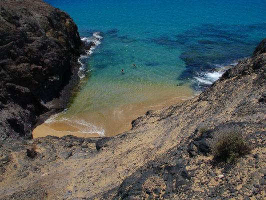 Sandbucht an den Playas de Papagayo