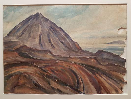 Gustav Gulde: El Teide, Aquarell, etwa 1934