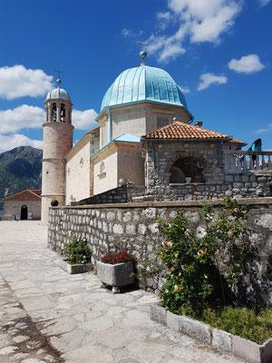 Kirche Gospa od Škrpjela, 1632, erneuert und erweitert 1722