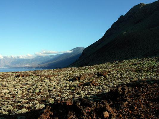 Landschaft von Arenas Blancas, Blick nach Osten auf El Golfo