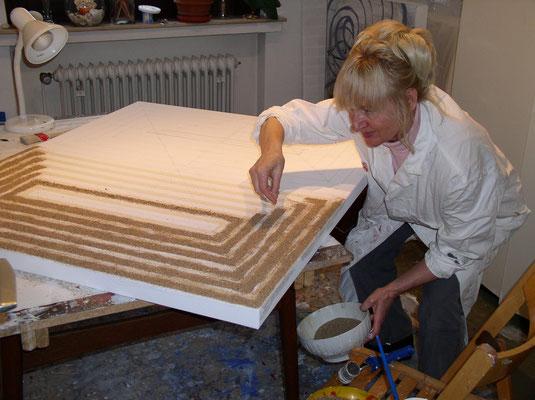 27.12.2002. MARRAKESCH - Mischtechnik auf Leinwand, 120 x 140 cm, 2003