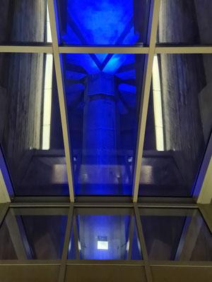Blick in den Unterbau des Denkmals