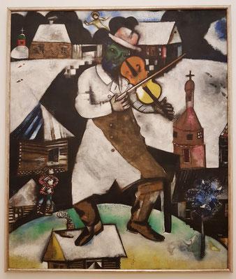 Marc Chagall: Le Violoniste, Öl auf Leinwand, 1912-13