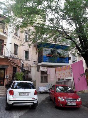 Hinterhofgebäude der Derybasivs'ka Street