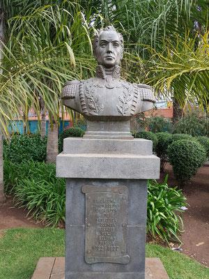 Simón Bolívar (Nationalheld mehrerer südamerikanischer und karibischer Länder) im Park von La Laguna