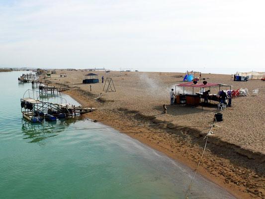 Der Kleopatra Beach am Ziel des Bootsausflugs