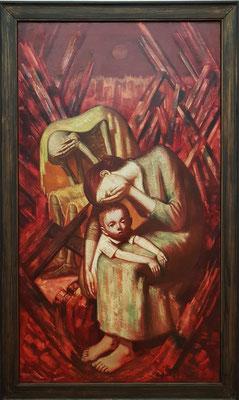 Wilhelm Lachnit (1899-1962): Der Tod von Dresden, 1945, Mischtechnik auf Leinwand