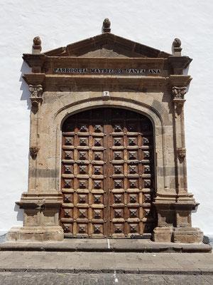 Garachico, Portal der Iglesia de Santa Ana