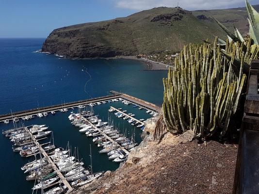 Parador Nacional de la Gomera, Blick auf den Yachthafen von San Sebastián