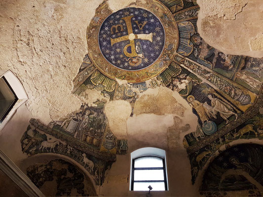 Napoli, Cattedrale di San Gennaro. Battistero di San Giovanni in Fonte mit Mosaiken des 4. Jahrhunderts