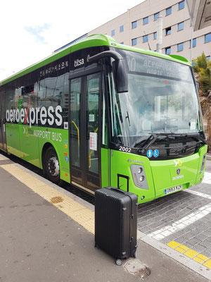 Aeroexpress, Titsa-Bus Nr. 20 von Santa Cruz Intercambiador zum Aeropuerto Tenerife Norte