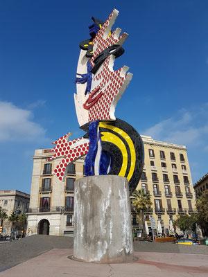 El Cap de Barcelona, abstrakte Skulptur von Roy Lichtenstein