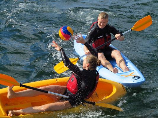 Sportliche Aktivitäten im Hafen von Kopenhagen