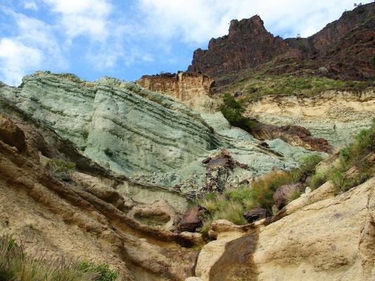 Azulejos, blaugrüne Felslandschaft nördlich von Mogán
