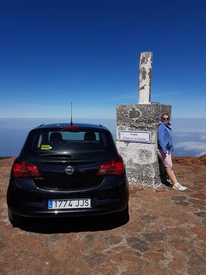 Auf dem Roque de los Muchachos (2426 m)