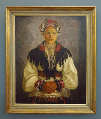 Štefan Polkoráb (1896-1951): A Woman in Mourning, Öl auf Leinwand, 1933