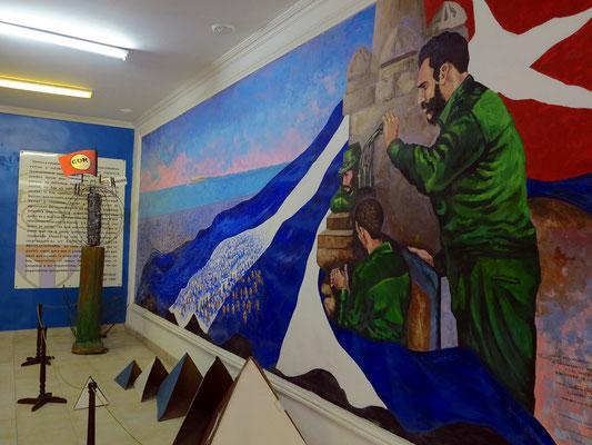 Wandgemälde zur Erinnerung an die Revolution
