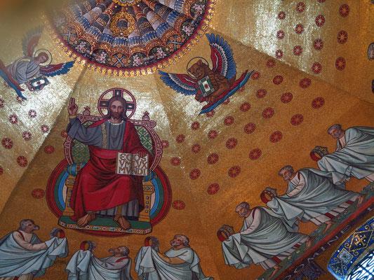 Aachener Dom, Neobyzantinisches Kuppelmosaik im Oktogon, 1880/81