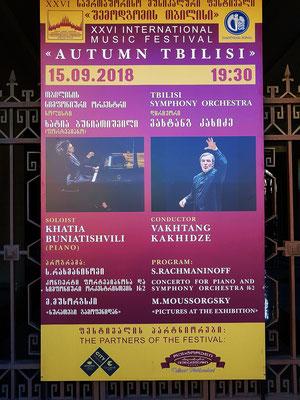 Plakat-Ankündigung des Konzerts
