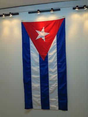 Kubanische Flagge, Ausstellung im Gebäude von El Taller Experimental de Gráfica