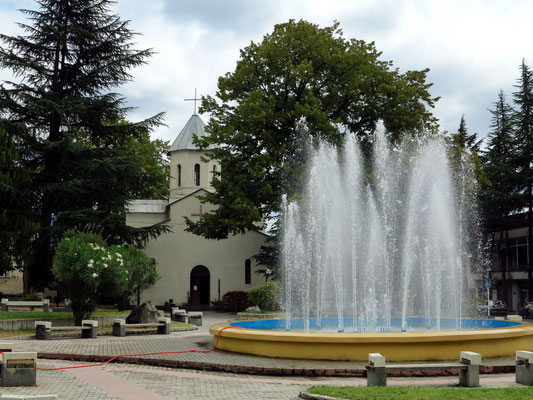 Fontäne in Lagodechi