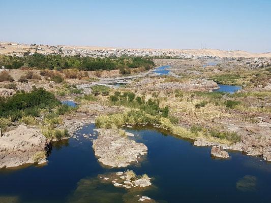 Blick vom Alten Staudamm nach Norden auf die Nillandschaft