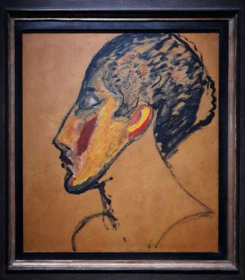 Alexej von Jawlensky (1864-1941): Porträt eines Tänzers (Sacharoff), um 1913, Öl auf Malkarton auf Holz