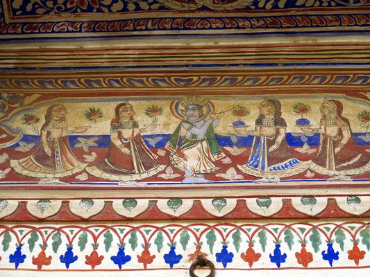 Wandmalerei im Haveli, Ende des 19. Jahrhunderts