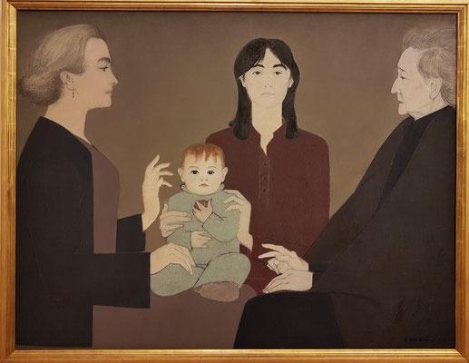 Will Barnet (1911-2012): Vier Generationen, 1984, Öl auf Leinwand