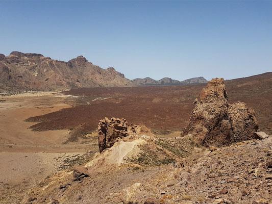 Caldera de las Cañadas. Blick vom Mirador de La Ruleta in die Ucanca-Ebene