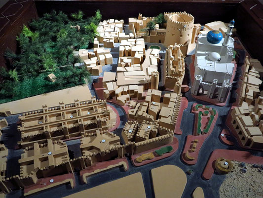 Modell der Festung Nizwa