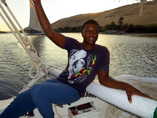 Unser nubischer Rudergänger auf der Feluke