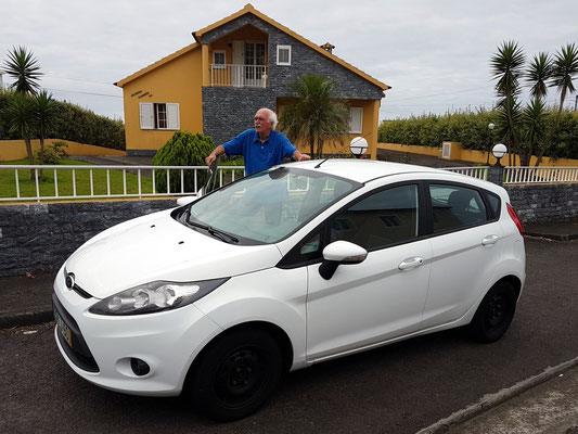 Unser Mietwagen Ford Fiesta