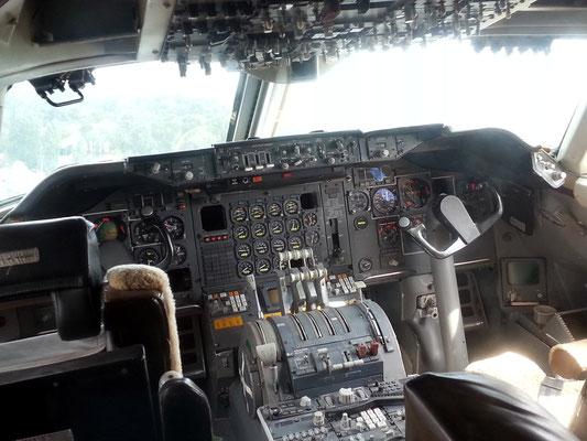 Cockpit der Boeing 747 Jumbo Jet
