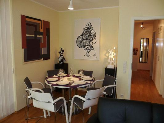 Wohnzimmer mit Essecke, 10.06.2012