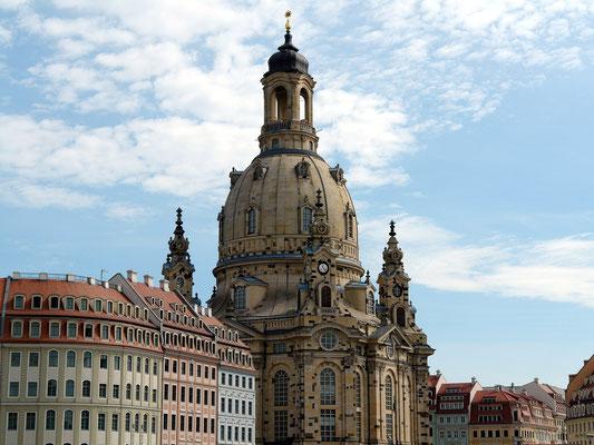 Frauenkirche, evangelisch-lutherische Kirche des Barocks, 1726 bis 1743 nach einem Entwurf von George Bähr erbaut
