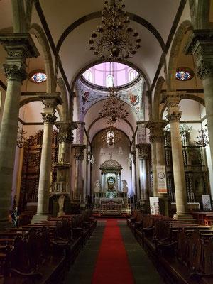 Inneres der Kirche Nuestra Señora de la Concepción, Blick nach Westen
