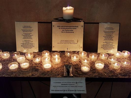 Eine Kerze für  Almut in der Johanneskirche in Rerik