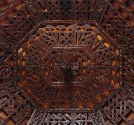 Detail der Holzdecke im Convento de Santo Domingo