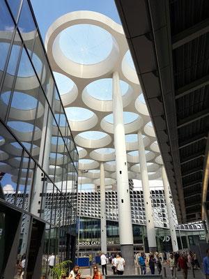 Dachkonstruktion östlich von der Central Station