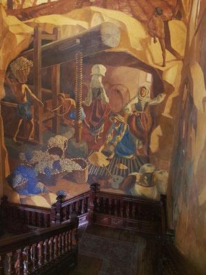 Wandgemälde von Mario de Cossío (1890-1960)